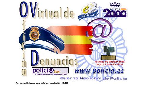 Web de denuncias de la Policía Nacional